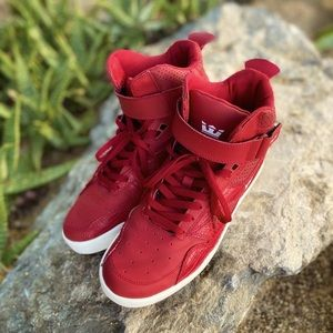 SUPRA Red High Tops